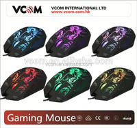 2016 Fashional wholesale gaming mouse OEM with LED light