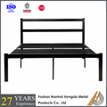 european double metal bed frame with slats