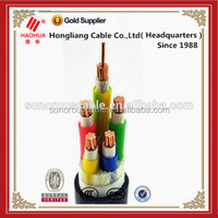 Low voltage Copper conductor 5 core power cable 0.6/1kV PVC insulated electrical cable manufacturer