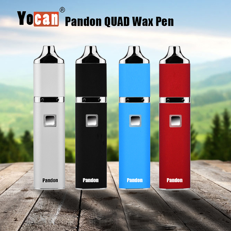 Dual Coil 1300mah Wax Vaporizer Variable Voltage Yocan Pandon Wax Vape Pen