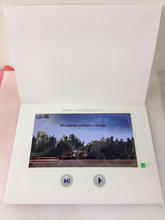 "10"" lcd video greeting cards, video folder brochure card for advertising"