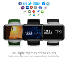 3G Bluetooth Smart Watch DM98 Android Wrist watch MTK6572 Dual Core Wifi GPS Map 0.3mp Camera 2.2inch touch screen