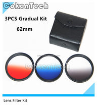 62mm HD Multicoated Graduated Color Filter Kit For Digital SLR Cameras