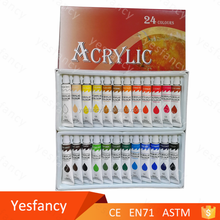 wholesales acrylic paint set 24 in tube