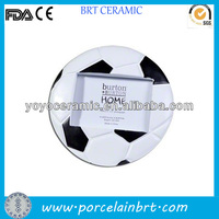 round white and black sport ball resin football picture frames
