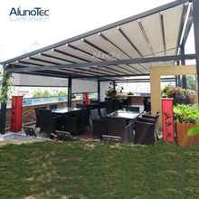 Motorized Outdoor Gazebo Retractable Roof Shading Awning