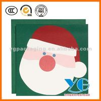 Christmsa Santa Heads Holiday Cards Greeting Cards