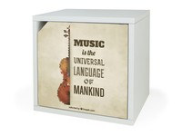 Music Style Cardboard Housing Storage Box With Door