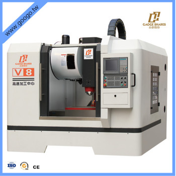 high speed high precision 3 axis V8 cnc vertical machining center