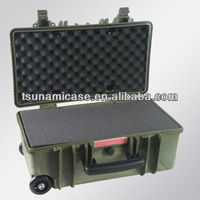 professional shockproof case with wheels cable flight case