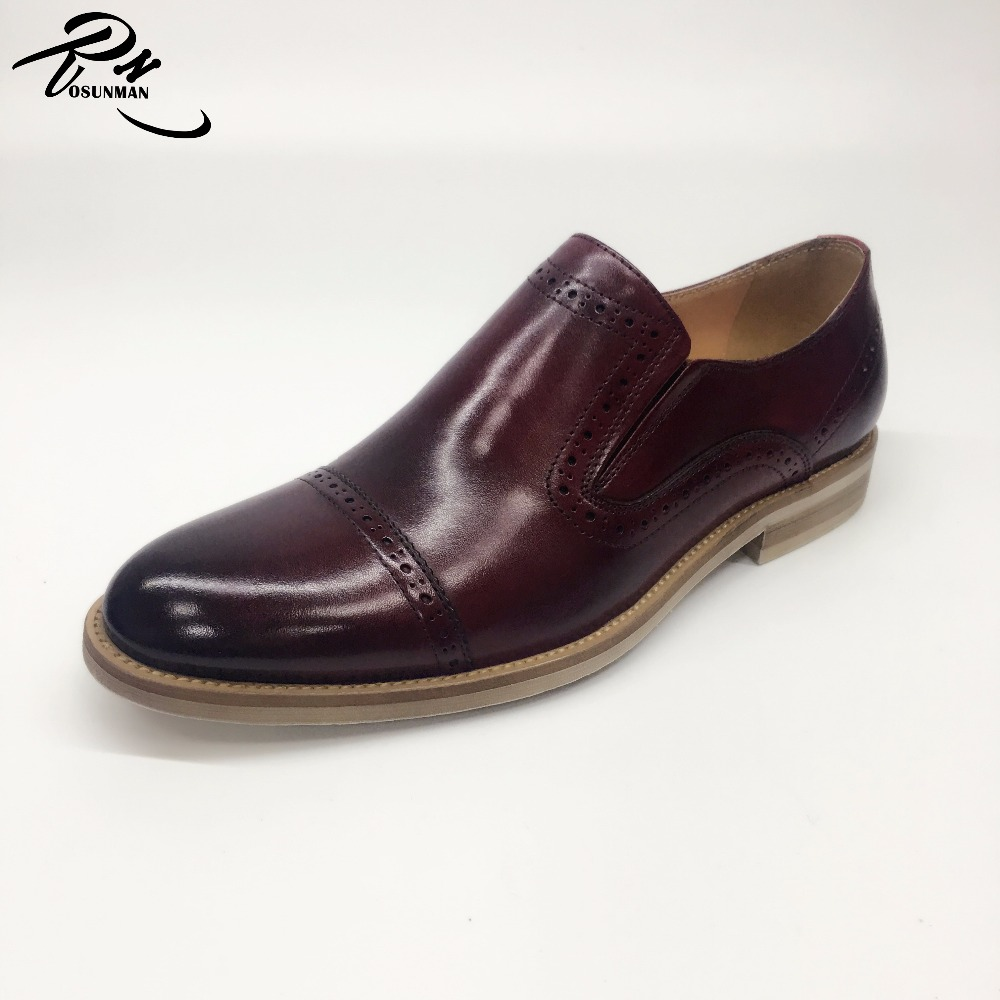 Latest design genuine leather made men fashion loafer dress shoes