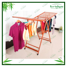 console mode household folding bamboo clothes drying rack