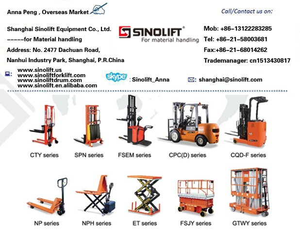55 Gallon Electric Oil Drum Handling Equipemnt, Hydraulic Manual Drum Machine, Forklift Attachemnet Drum Clamp, Oil Drum Trolley