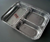 3 compartments Aluminium Foil Food Containers meal trays