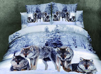 European and American style 3 d animal series cotton home bedding