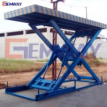 Heavy duty goods loading stationary hydraulic scissor lift table