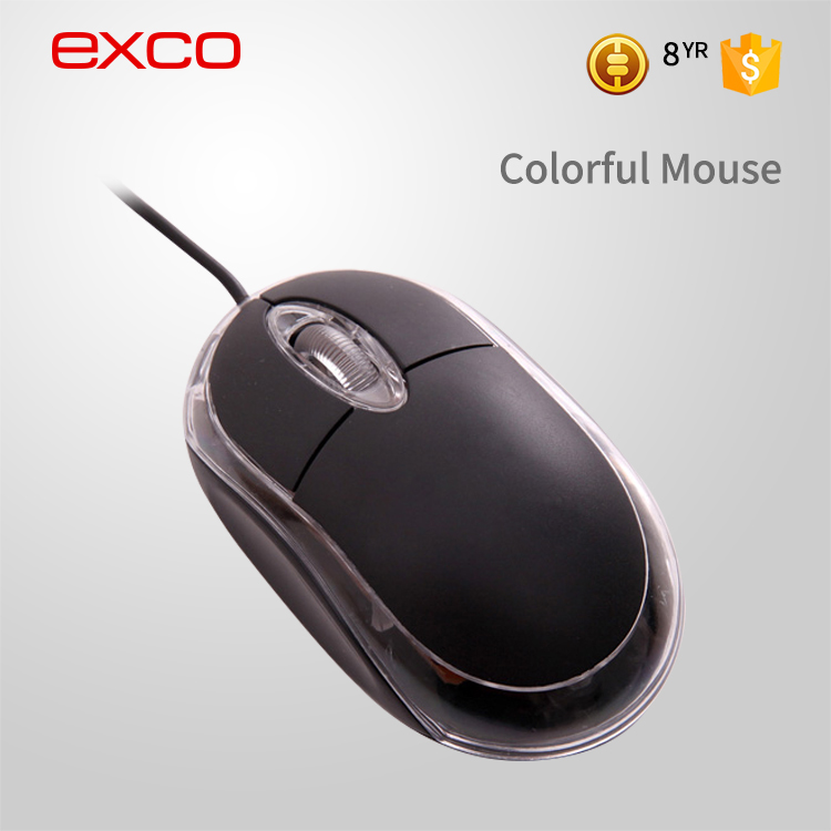 EXCO Adjustable 2000 DPI computer optical 3D drivers USB OEM gaming mouse with multicolor breath LED light