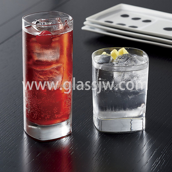 Hot sale cheap square highball drinking glass