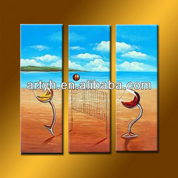 Newest Funny Handmade Seascape Canvas Art Picture Oil Painting