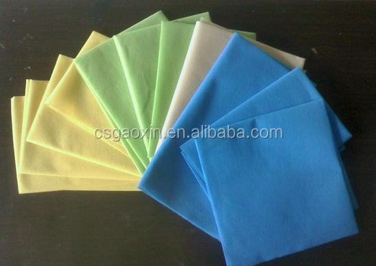 Various Color Needle Punched Nonwoven Cleaning Wipes