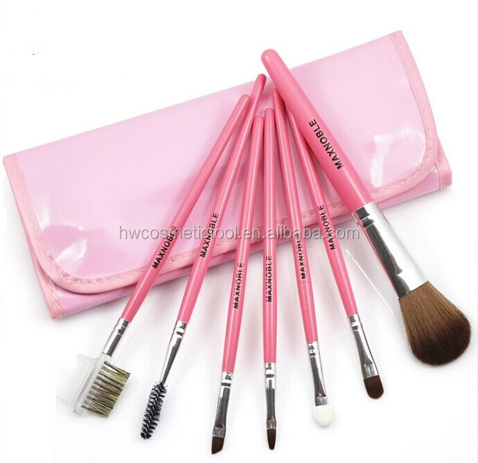 Pink girl 7pcs makeup brush set