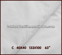100% Cotton hometextile/hotel bedding set bleached fabric 40x40 133x100