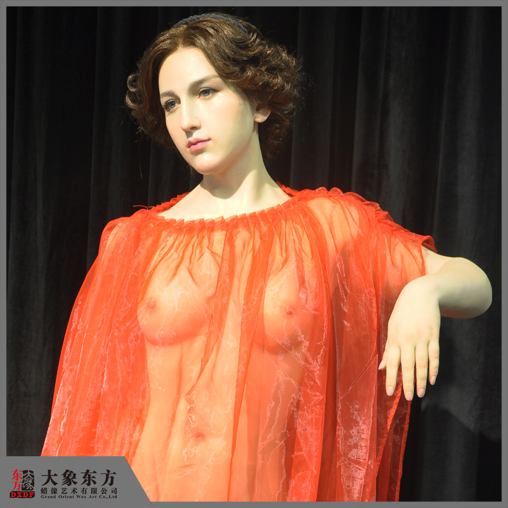 Animated Onepiece Figure Lifesize Female Nude Wax Sculpture