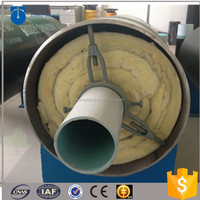 steam pipeline steel pipe wrapped with rock wool insulation material with CE certification for high temperature steam supply