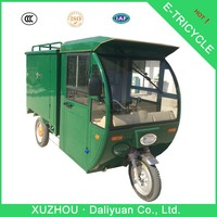 gasoline tricycle electric cargo closed body adult tricycle