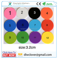 colorful 32mm acrylic plastic coin tokens