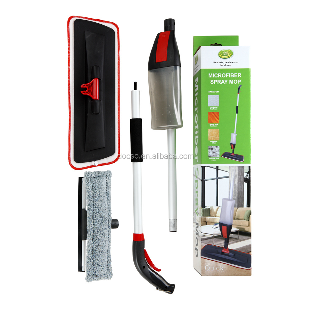 Household Telescopic Spray Mop 2 in 1 with micofiber Window Wiper