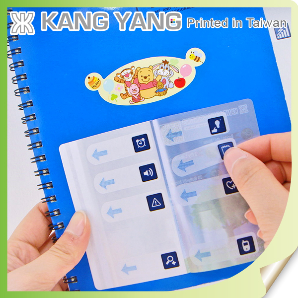 Crate To Adhere To Book Covers Clear PVC Paper Of Index Booklet Label Sticker