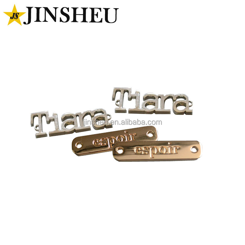 zinc alloy custom metal brand logo jeans label