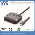 Type-C to SATA cable USB 3.1 15+7 pin adapter cable for hdd 2.5'' 3.5''