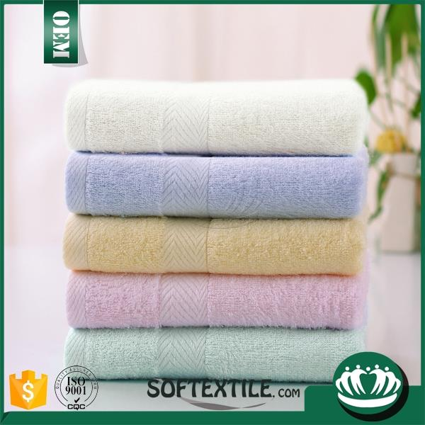 china manufacture bamboo and organic cotton towel