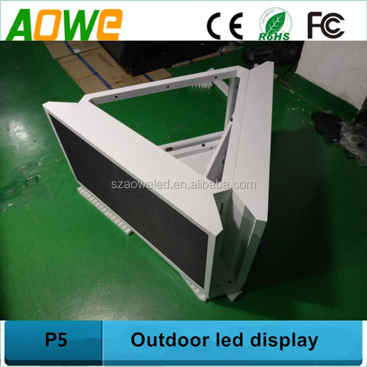 3 sides Car top led sign remote control 12v outdoor P5 taxi led screen /3g wifi wireless truck led display