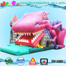 inflatable snappy dragon bouncy castle, jumping bouncer for children, inflatable castle dragon slide