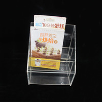 high clear OEM business card acrylic table stand storage box