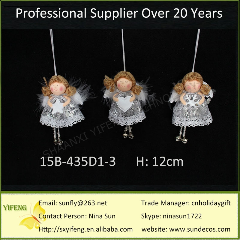 2016 12CM Available Xmas Life Size Angel Christmas Decoration Supplier Decorating For Xmas Home Hanging Angel Christmas