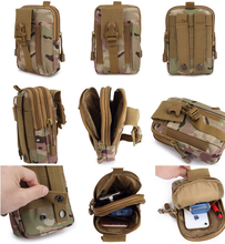 Tactical Molle Pouch Belt Military Hiking Camp Phone Pocket Waist Fanny Bags
