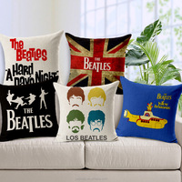 Decorative Pillows Beatles-Related Graphic Characters Pillow Case Fabric For Furniture