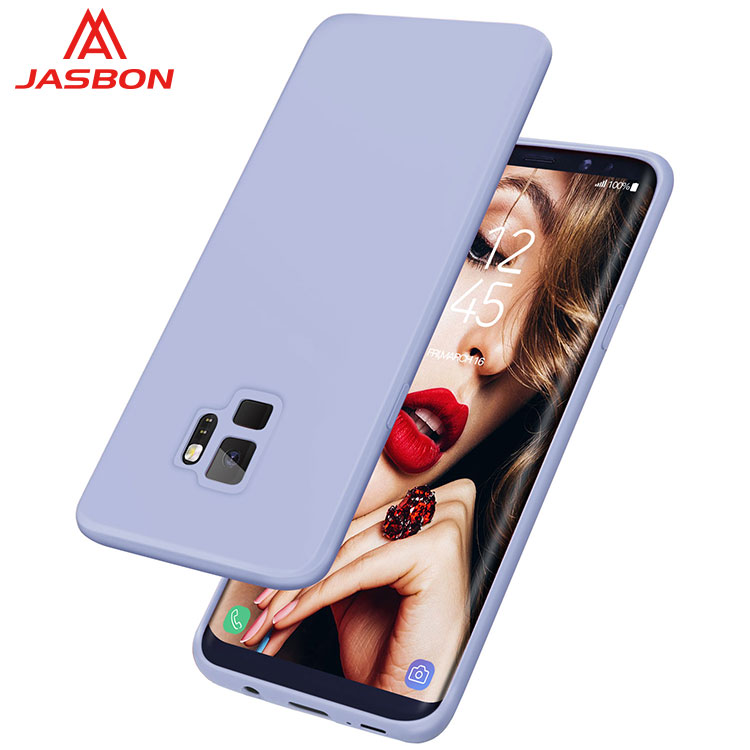 JASBON 2018 new arrival Light Blue thickened custom gel phone case silicone gel phone case for Samsung S9 Plus for cell phone