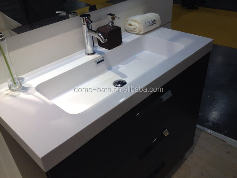 Domo Composite Resin Long Narrow Bathroom Sink Product On Alibaba