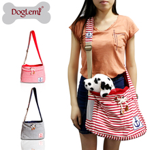 Fashion Stripe Pet Dog Cat Puppy Carrier Travel Tote Shoulder Bag