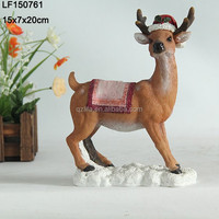 modern sculpture home decor musk deer decoration xmas