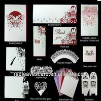 Supplies for making greeting cards printing invitations wedding card decoration items