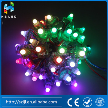 DC5V Waterproof RWB Wire 12mm WS2811 Square LED Pixel Module Diffused Digital RGB Pixel String