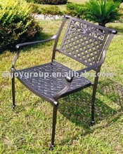 Outdoor cast aluminum arm chair