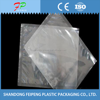 Vacuum resealable plastic bags for food
