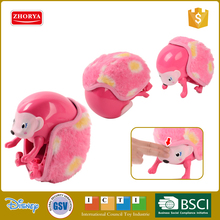 Zhorya new arrival battery operated light pet hedgehog with interaction function